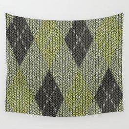 Cactus Garden Argyle 1 Wall Tapestry