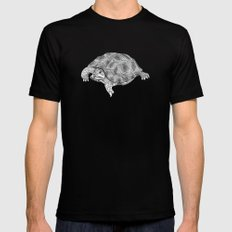 Little tortoise Black Mens Fitted Tee LARGE