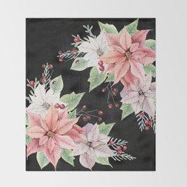 Poinsettia Throw Blanket