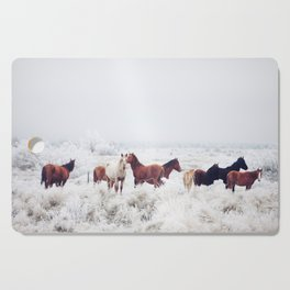 Winter Horseland Cutting Board