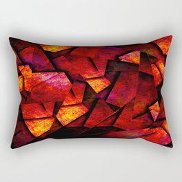 Fragments Of Fire - Abstract, geometric, fragmented pattern Rectangular Pillow