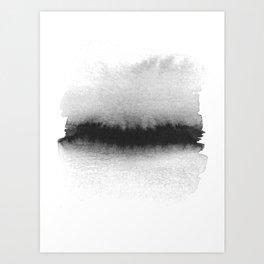 Black and White Horizon Art Print