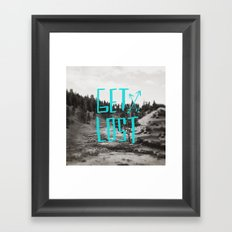 Get Lost x Yellowstone Framed Art Print