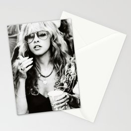 Stevie Nicks Young Black and white Retro Silk Poster Frameless Poster Stationery Cards