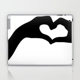 Hearts out of Hands - Silhouette Laptop & iPad Skin