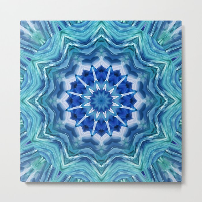 Mandala sea breeze Metal Print