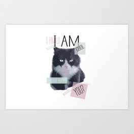 I know I am cool. What About You? Art Print