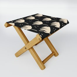 Leaves in black and ivory Folding Stool