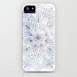 Marble Mandala - Purple Blue Rose Gold iPhone Case