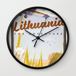 lithuania For an adventure Wall Clock