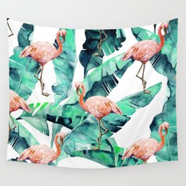 Tropical Flamingo Wall Tapestry