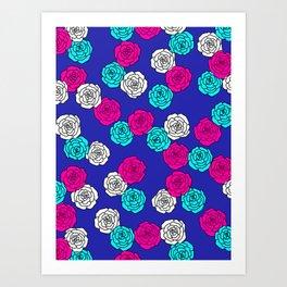 Pop Roses Pattern Art Print