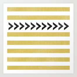 ARROW STRIPE {MUSTARD} Art Print
