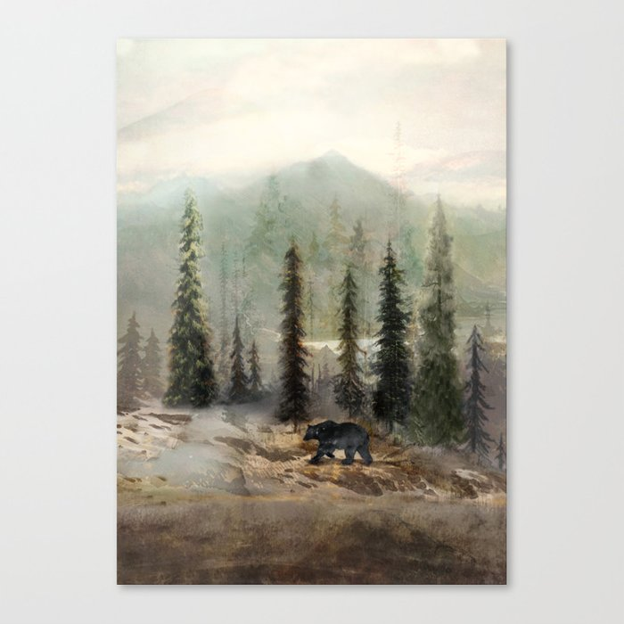 Mountain Black Bear Leinwanddruck