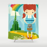 oz Shower Curtains featuring Dorothy Wizard of Oz by Steph Dillon