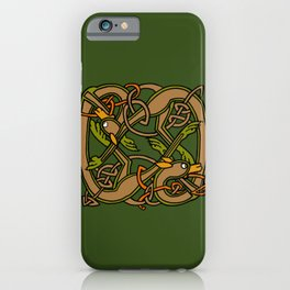 Celtic Hounds Knot One iPhone Case