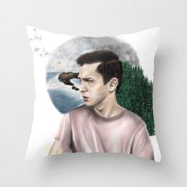 DRØWN IN THE FØREST Throw Pillow