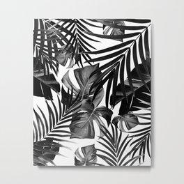Tropical Jungle Leaves Pattern #10 #tropical #decor #art #society6 Metal Print