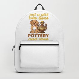 Girl Loves Pottery And Dog Backpack