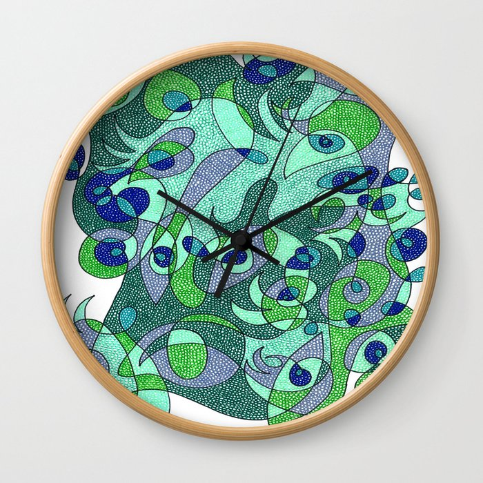 Abstract Eyes #1 Wall Clock