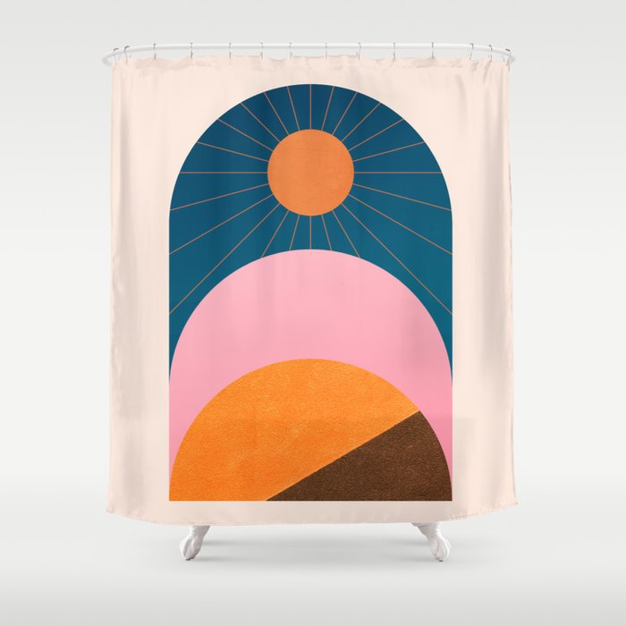 Abstraction_Sunshine_Minimalism_001 Shower Curtain