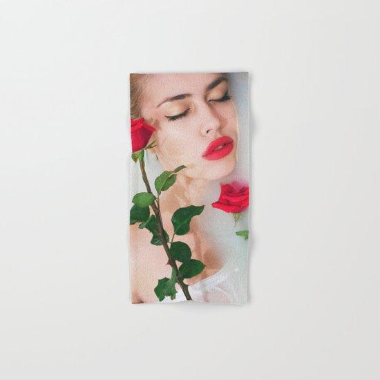 Red lips Hand & Bath Towel