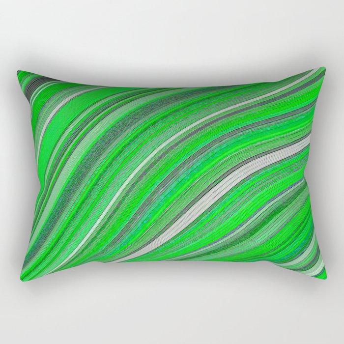 Wild Wavy Lines 33 Rectangular Pillow