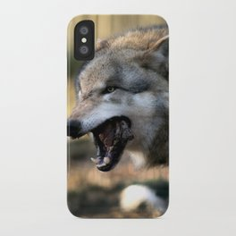 The wolf is hungry iPhone Case