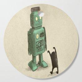Robot vs Alien Cutting Board