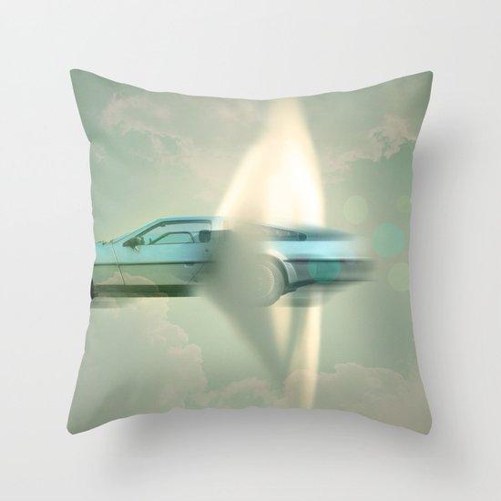 Supersonic Delorean Throw Pillow