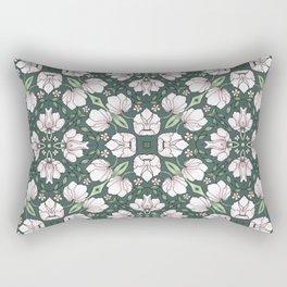 Pattern of Art Deco Flowers Rectangular Pillow