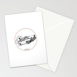 Crazy Car Art 0115 Stationery Cards