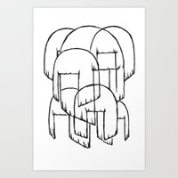 amy sia Art Prints featuring sia bobs by Melina Espinoza