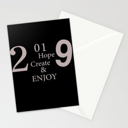2019 happy new year party Stationery Cards
