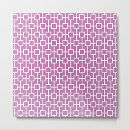 Orchid Purple Lattice Pattern Metal Print