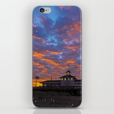 Red Clouds Over Newport iPhone & iPod Skin