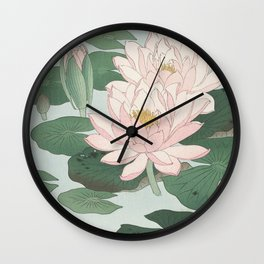 Water Lily Japanese print Wall Clock