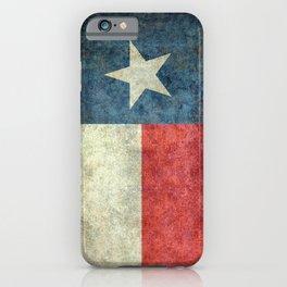 Texas flag, Grungy Vertical Banner iPhone Case