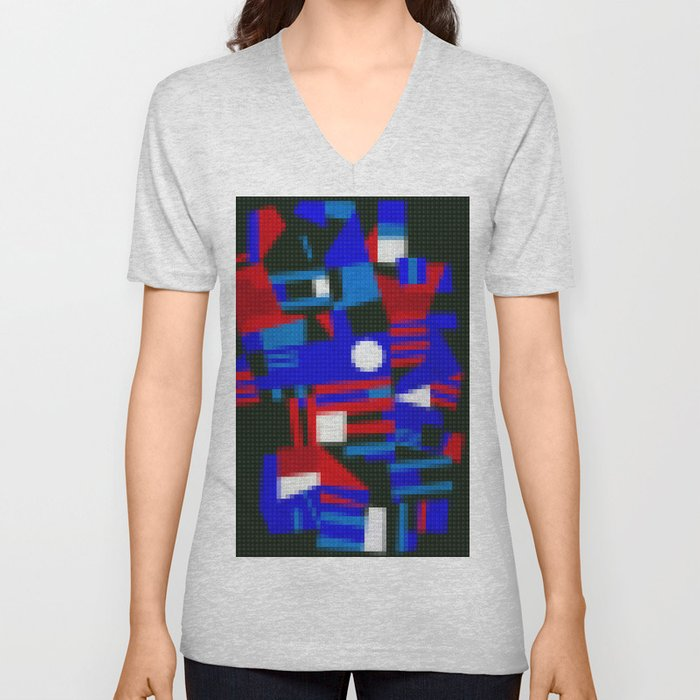 Lego: Abstract Unisex V-Neck