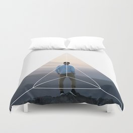Top of the World Boy - Geometric Photography Duvet Cover
