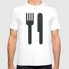 Food Mens Fitted Tee White X-LARGE