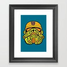 Neon Trooper. Framed Art Print