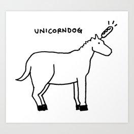 unicorndog Art Print