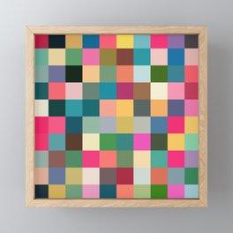 Multicolor Pixel Tiles Art - Kumulipo Framed Mini Art Print