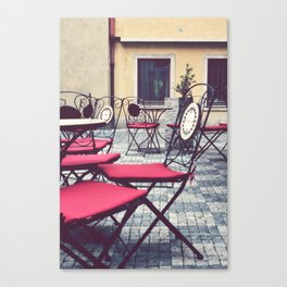 Cafe, Prague. Canvas Print