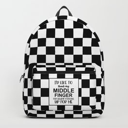 Middle Finger Quote Backpack