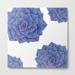 Elegant Big Purple Echeveria Design Metal Print