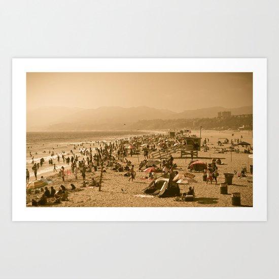 Santa Monica Summer Art Print