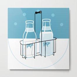 Milk Clock Metal Print