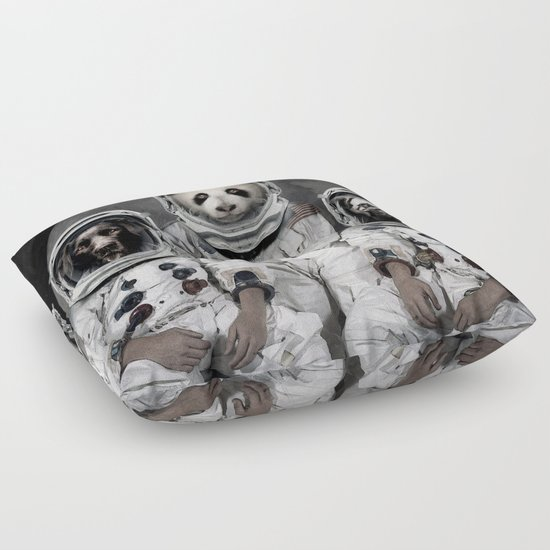 Animal Shaped Floor Pillows : Capricorn 3 - Astronaut animal group Floor Pillow by Vin Zzep Society6